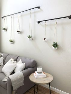 Hanging Succulents Step by Step Tutorial Wall Decor Living Room Hanging Step Suc. - Hanging Succulents Step by Step Tutorial Wall Decor Living Room Hanging Step Succulents Tutorial - Pallet Wall Decor, Room Wall Decor, Bedroom Wall, Bedroom Decor, Diy Pallet, Bedroom Lighting, Decor For Walls, Pallet Walls, Pallet Tv