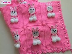 Rabbit Baby Blanket Making @ Canım Anne Knitted Baby Blankets, Baby Blanket Crochet, Crochet Baby, Crochet Poncho Patterns, Baby Knitting Patterns, Basket Weave Crochet, Bunny Blanket, Rabbit Baby, Baby Quilts