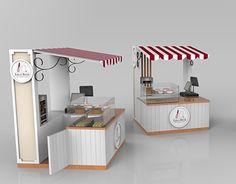 Kiosk Design, Cafe Design, Booth Design, Food Stall Design, Food Cart Design, Small Coffee Shop, Coffee Shop Design, Donut Store, Backyard Chicken Coop Plans