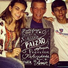 Pai e filhos! Muito amor envolvido. Família maravilhosa!  #father #familia #filhos #amor #paizão #reenquadro