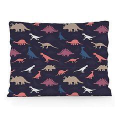 Cuscino decorativo Dinosaurs  blu scuro e bordeaux  50 x 35 cm