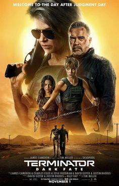 Terminator: Dark Fate - Directed by Tim Miller. With Mackenzie Davis, Edward Furlong, Linda Hamilton, Arnold Schwarzenegger. Sarah Connor and a hybrid cyborg human must protect a young girl from a newly modified liquid Terminator from the future. Movies 2019, Hd Movies, Movies Online, Movie Tv, Movie Plot, Movies Free, Movie Songs, James Cameron, Arnold Schwarzenegger