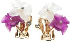 Christian Dior Vintage embellished bouquet earrings on shopstyle.com
