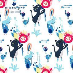 Cat summer pattern - you probably remember parts of these illustrations. I created some patterns out of them and I am now waiting for the fabric samples to arrive by Spoonflower. Which pattern do you like better, 1 or 2? 🌸 Katzen-Sommermuster - vermutlich erinnerst du dich noch an die Illustrationen in diesen Mustern. Ich habe einige Muster aus jenen Illus erstellt, und warte nun auf die Teststoffe von Spoonflower. Welches Muster gefällt dir besser, 1 oder 2? 🌸 #illustrating #illustrations…