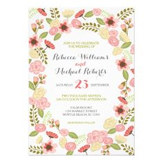 Botanical Flowers Invitation- still waiting for more  http://www.zazzle.com/charmingink/gifts?cg=196077594434486680