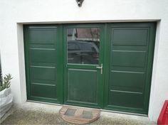 Remplacement d'une prote de garage par un ensemble PVC laqué vert (RAL 6009)