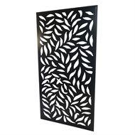 Protector Aluminium 1840 x 940mm Black Large Leaf Design Screen Panel