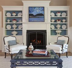 Leandra Fremont Smith designed this room showcasing an oil painting by Brita Holmquist from Elizabeth Moss Galleries.