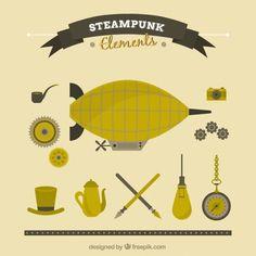 flat-steampunk-things_23-2147540552.jpg (626×626)