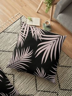 """Palm Leaves Pattern Summer Vibes #5 #tropical #decor #art"" Floor Pillows by anitabellajantz 