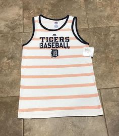 Detroit Tigers Tank Top, Ladies size Large L - NEW WITH TAGS Baseball Tee MLB #Majestic #TankTop