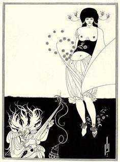 The Stomach Dance, 1893 by Aubrey Beardsley. Art Nouveau (Modern). illustration…