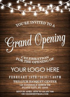 Help buddies turn holds into houses along with housewarming yields by using personalized gifts. Shop Opening Invitation Card, Grand Opening Invitations, Open House Invitation, Grand Opening Party, Business Invitation, Invitation Card Design, Invitation Wording, Printable Invitations, Invitation Cards