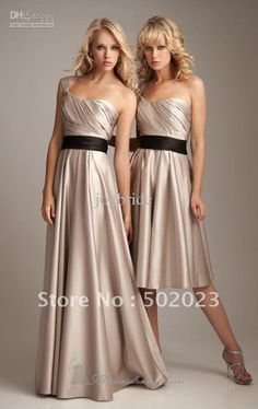 Wholesale Junior Bridesmaid Dresses 1235 mocha two-tone satin bridesmaid dresses by Allure 2012, Free shipping, $106.4-112.0/Piece | DHgate