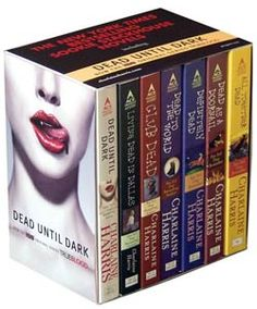 The Southern Vampire Series (the novels True Blood is based on).  I've put off reading the latest one because I want it to last longer.  Love these books!