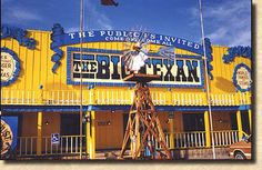 """The """"Big Texan"""" offers a 72 oz. steak free to those who can eat it within an hour, Amarillo, Texas. Compliments of the National Historic Route 66 Federation"""