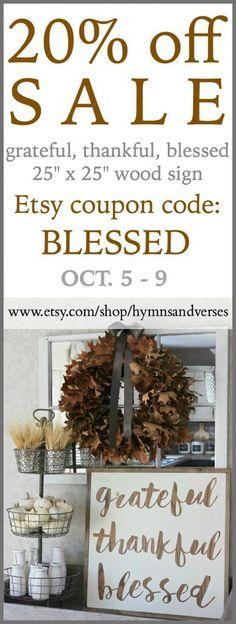 Grateful Thankful Blessed – Etsy Shop Sale