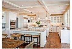 Double Oven Kitchen, Kitchen Oven, Kitchen With Double Island, Large Kitchens With Islands, Large Open Kitchens, Double Ovens, Basic Kitchen, Kitchen White, Updated Kitchen
