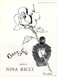 Nina Ricci (Perfumes) 1952 ''Coeur-joie'' Dimitri Bouchène