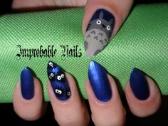 "Improbable Nails: ""Totoro"" nails"