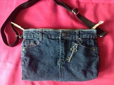 A personal favorite from my Etsy shop https://www.etsy.com/listing/530461539/top-denim-purse