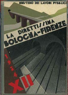 Attilio Calzavara La direttissima Bologna-Firenze, 1934 (Fondazione Massimo e Sonia Cirulli)
