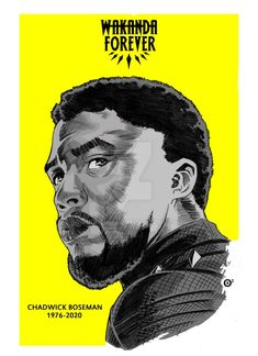 CHADWICK BOSEMAN TRIBUTE by shonemitsu on @DeviantArt Ricky Bell New Edition, Black Panther Marvel, Deviantart, Movie Posters, Drawings, Film Poster, Billboard, Film Posters