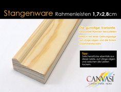 Rahmenleiste Basic 17 x 28 - Leistenlänge: Meter - FSC® zertifiziert Wedges, Frame, Tips