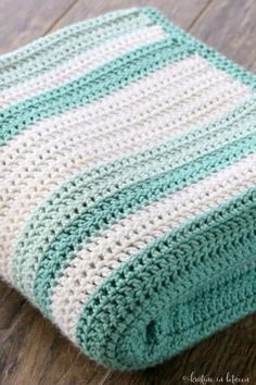 You'll love this simple all double crochet afghan! The whole afghan is made with one stitch, making it easy to set down and come back to!