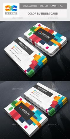 Buy Color Business Card by -axnorpix on GraphicRiver. Round /square corner possible. Easy to edit. Business Cards Layout, Business Card Psd, Cool Business Cards, Business Card Design, Corporate Business, Business Marketing, Business Ideas, Business Inspiration, Business Branding