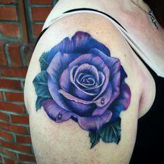 22 Best Lavender Rose Tattoo Images Purple Rose Tattoos Arm