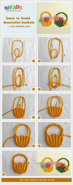 Learn to Braid Decorative Baskets – Nbeads   for earrings