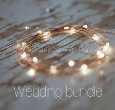 Décoration de mariage rustique idéal. Guirlande lumineuse avec fil de cuivre! ✨  6.6 ft ou 2m de lumière à piles avec marche/arrêt interrupteur et