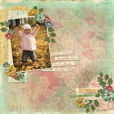 """""""Autumn Is The Second Spring"""" layout by Cindy Rohrbough includes Autumn Frolic Paper Super Mini."""