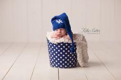 University of Kentucky Baby Hat, Blue and White Newborn Wildcats Hat, Great Photo Prop Tassel Hat