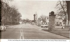 1958-looking south (from Kenilworth to Wilmette) on Sheridan Rd. -No man's Land