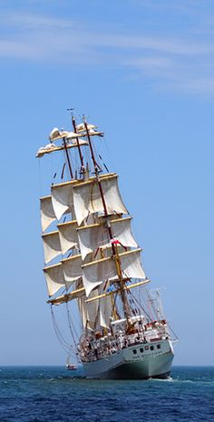 Sailing the high sea.