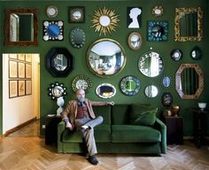 Best Ideas For Modern Interiors Design : – Picture : – Description Mirror mirror on the wall… Meet Barnaba Fornasetti in the green room Via Bazzini CasaFornase