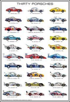 Thirty Porsches