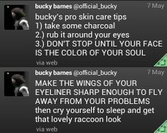 How to do Makeup by Bucky Barnes