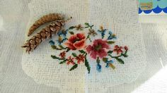 Check out this item in my Etsy shop https://www.etsy.com/listing/268207981/antique-floral-embroidered-canvas-shabby