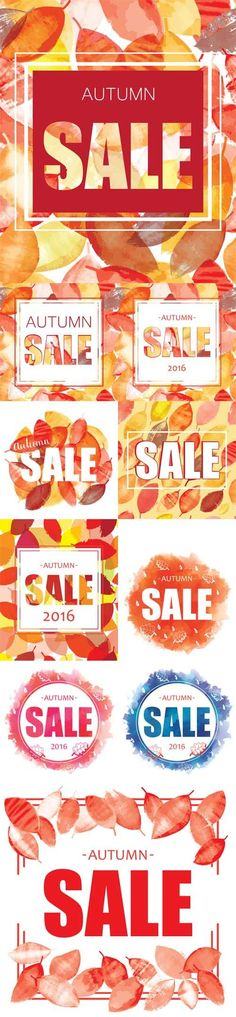 Vector Autumn Sale banner design