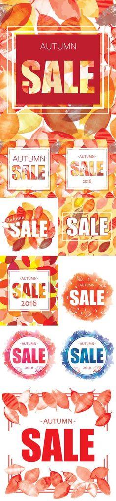 Vector Autumn Sale banner design