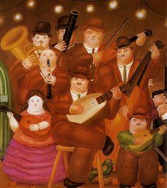 """Artinvest2000: Botero Fernando """"I Musicisti"""" 1979, olio su tela, Monterrey, Messico, collezione privata."""