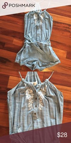Abercrombie & Fitch jean romper PERFECT CONDITION Abercrombie & Fitch Dresses