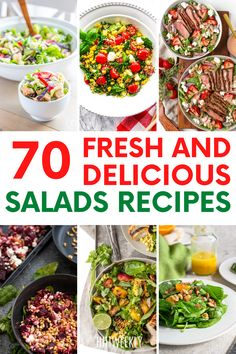 Healthy salads you can eat for any meal of the day. Great meal prep salad recipes.