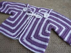 Hexagon baby cardigan pattern CQ