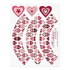 Hearts Confection Cupcake Wrapper Flyers  #hearts #cupcakewrapper #cupcakeliner #DIY