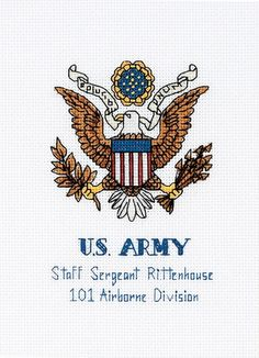 Dimensions Military Pride - Cross Stitch Kit. Honor your loved one for their service to our nation (Air Force, Army, Navy, Marines, & Coast Guard). The Dual-ope