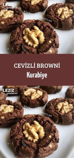 Brownie Cookies with Walnut - My Delicious Food - Yummy Recipes Brownie Cookies, Cookie Dough Cake, Chocolate Chip Cookie Dough, Chocolate Layer Dessert, Chocolate Lasagna, Chocolate Brownies, Chocolate Desserts, Cookie Recipes, Dessert Recipes